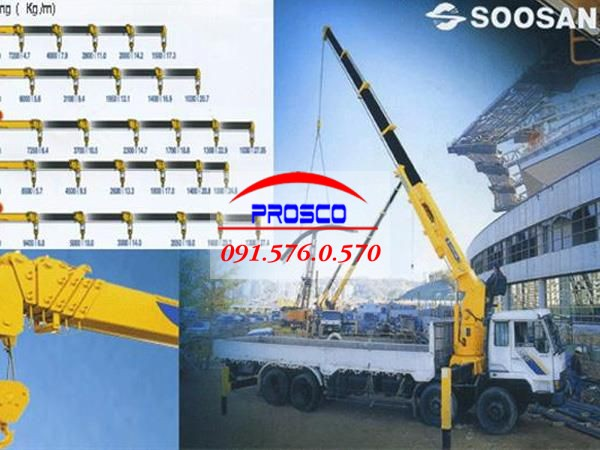 cẩu Soosan từ 10-17 tấn